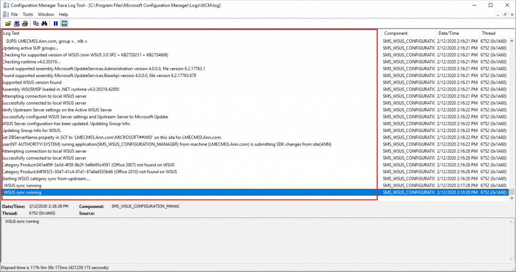 WCM.log - Remote SUP Installation Guide - New ConfigMgr Software Update Role