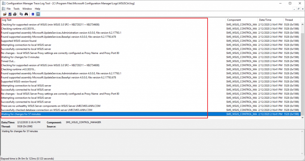 WSUSCtrl.log - Log file details - New ConfigMgr Software Update Role