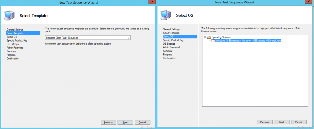 Task Sequence Template - Image Creation Using MDT
