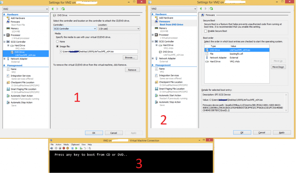 Boot VM from ISO - Image Creation Using MDT