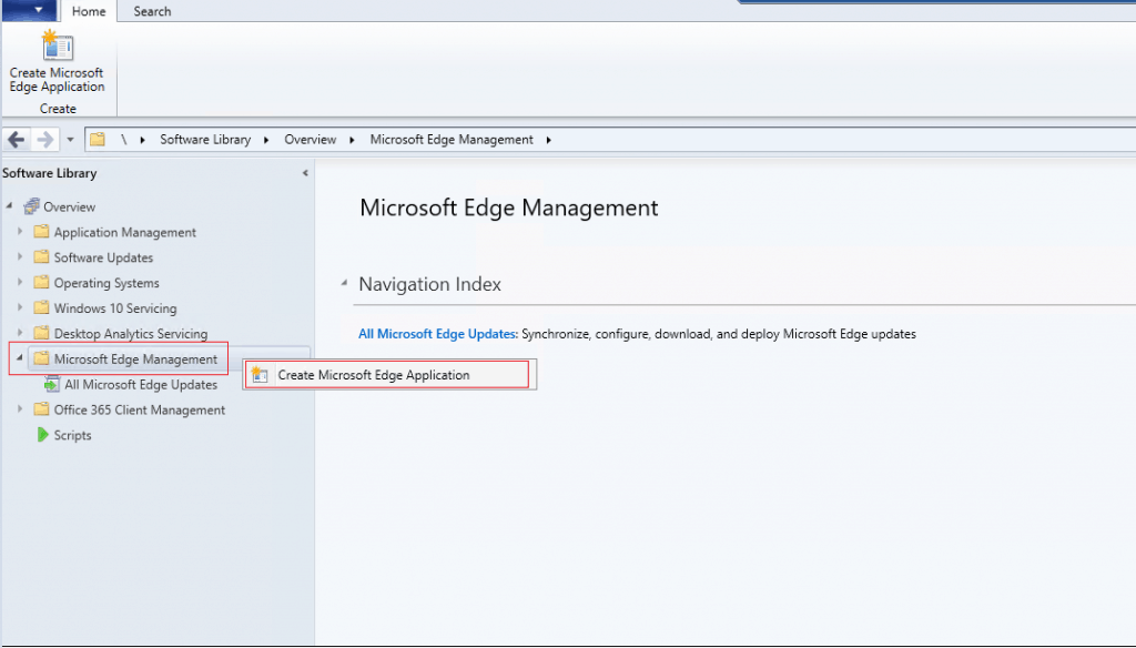 Install Microsoft Edge Browser Using ConfigMgr