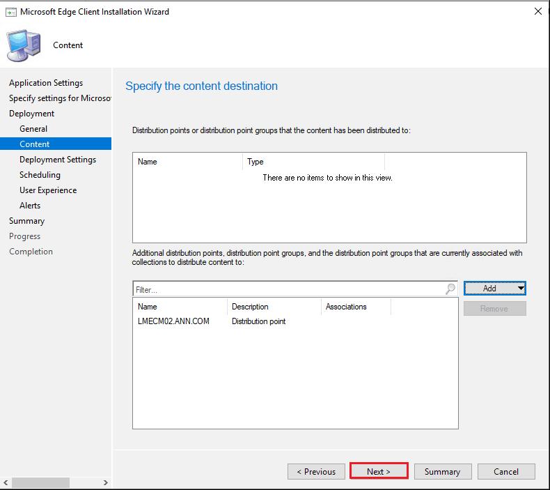 Upgrade Microsoft Edge Using SCCM