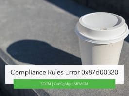 Compliance Rules Error 0x87d00320