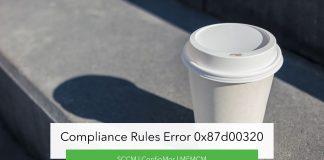 Compliance Rules Error 0x87d00320