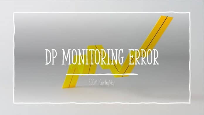 DP Monitoring Error
