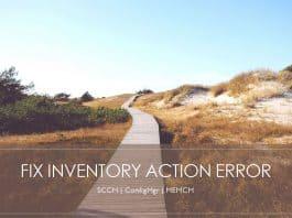 Error Verify Inventory Action Status Failed 80041003