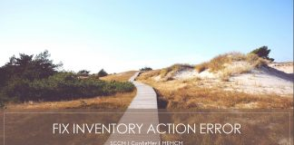 Error Verify Inventory Action Status Failed 80041003