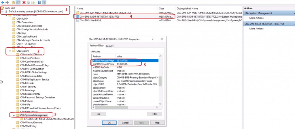 mSSMSRangedIPHigh & mSSMSRangedIPLow - Create Boundary Groups in ConfigMgr