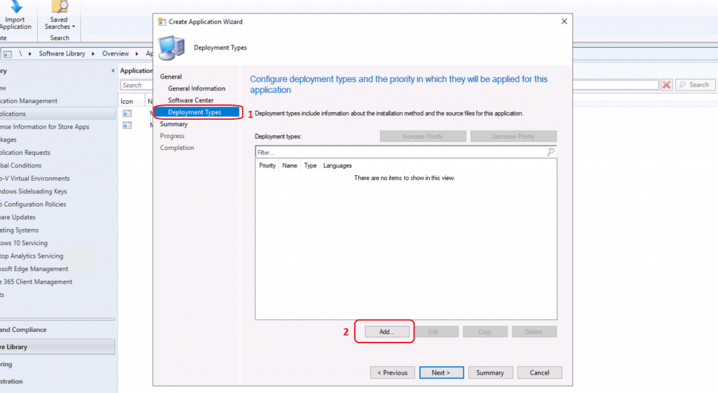 ADD button to configure the MS Teams application