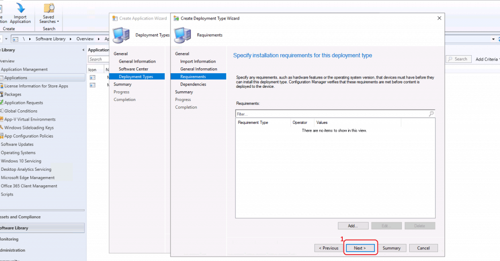 MS Teams Requirements - Click NEXT to Continue - Deploy MS Teams MSI Using SCCM