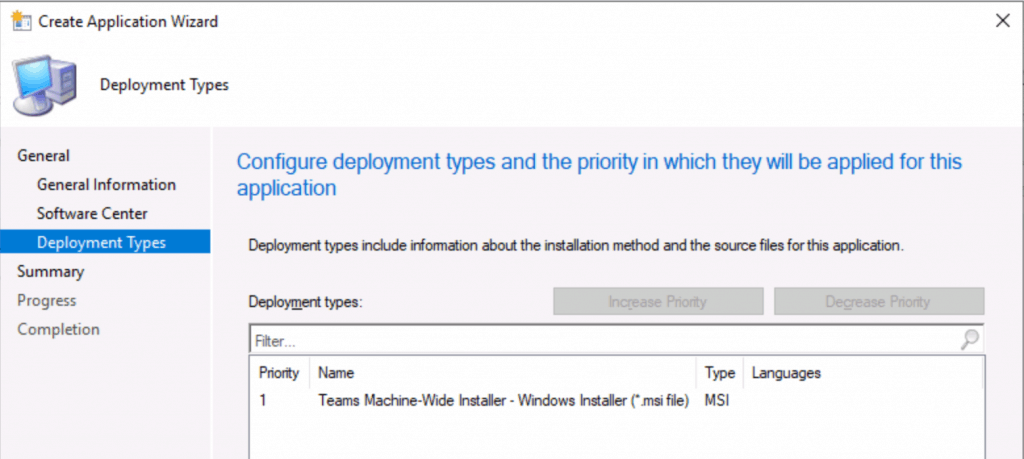 Deployment Types for MS Teams - Deploy MS Teams MSI Using SCCM