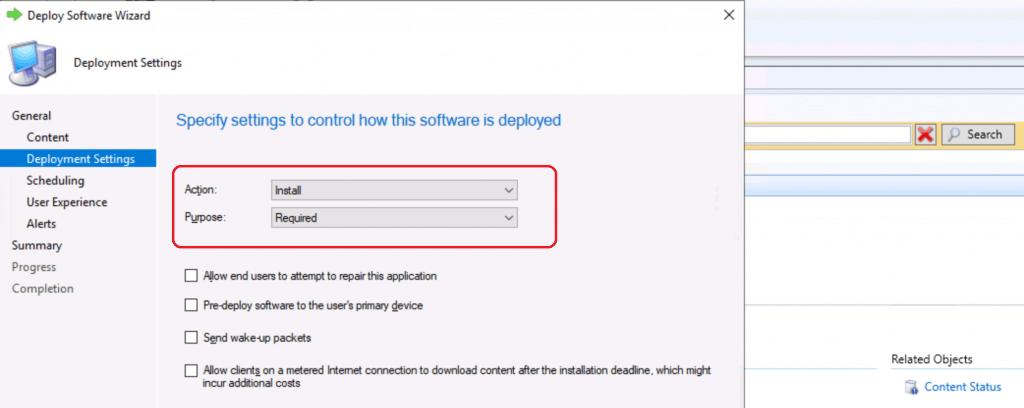 Deployment Settings of Microsoft Teams - Deploy MS Teams MSI Using SCCM
