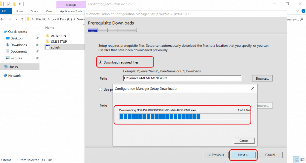 Download Required Files to Build Configuration Manager Technical Preview LAB