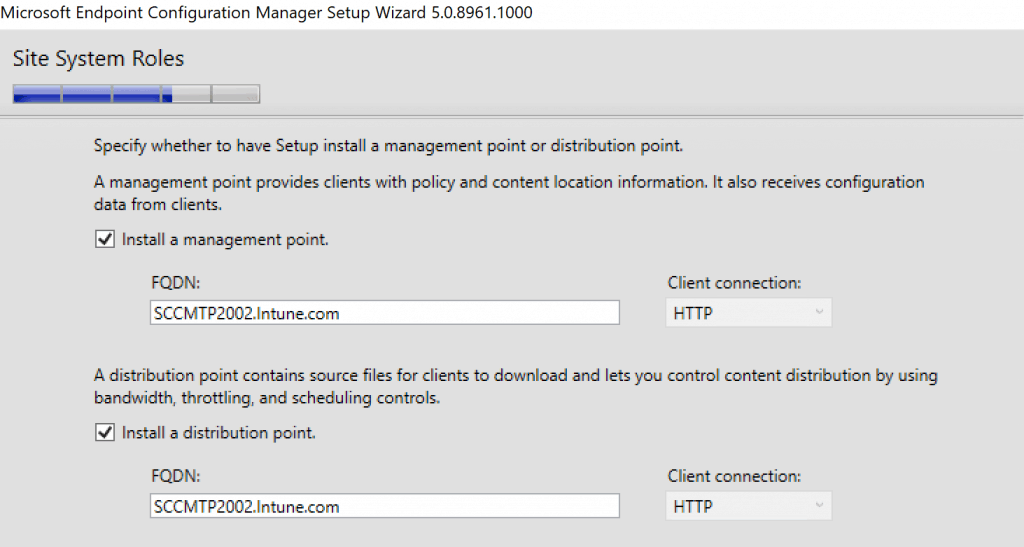 Specify whether to have setup install Site System Roles - Build Configuration Manager Technical Preview LAB
