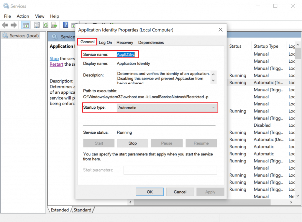 Create AppLocker Policies Application Identity Properties