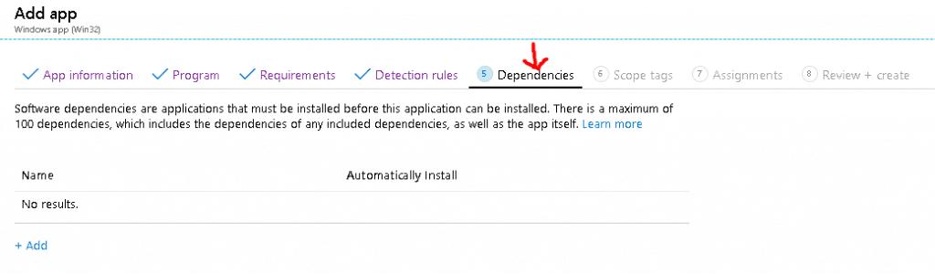 Application Dependencies - Deploy Windows App Win32 Using Intune