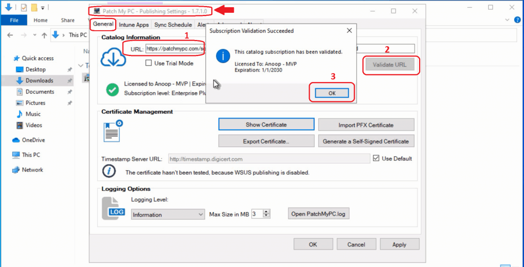 3rd Party Patching catalog URL - Intune Third-Party Patching Automation