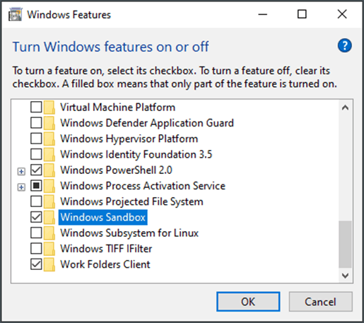 Enable - Use Windows Sandbox to Create MSI Packages