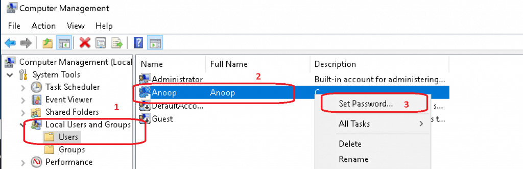Reset Local User Account - to fix SCCM Server Trust Relationship Issue