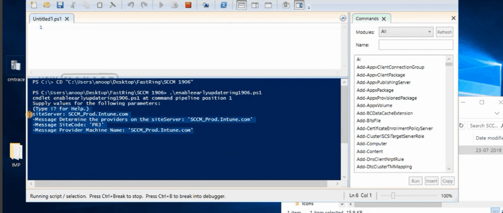 PowerShell to Enable Opt-in Ring -  Slow Ring Vs Fast Ring Details - Site Server Name (FQDN)