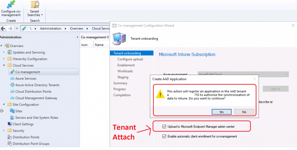 Enable Tenant Attach for SCCM 2002
