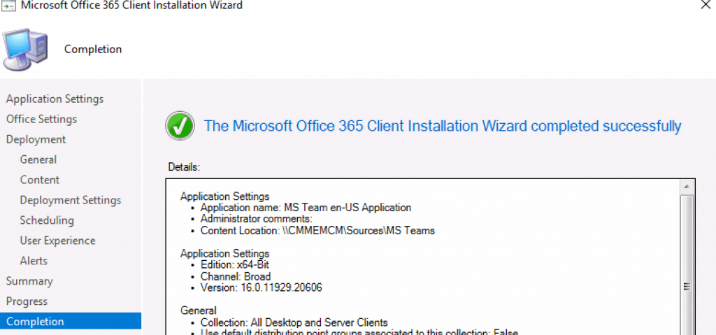 Deploy MS Teams using ConfigMgr