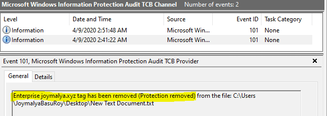 WIP Troubleshooting Checklist - Removing File Protection by changing File Ownership is logged under EDP-Audit-TCB events