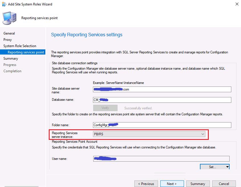 ConfigMgr Integrate Power BI Reporting Server with SCCM 10