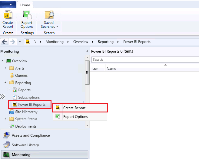 ConfigMgr Integrate Power BI Reporting Server with SCCM 13