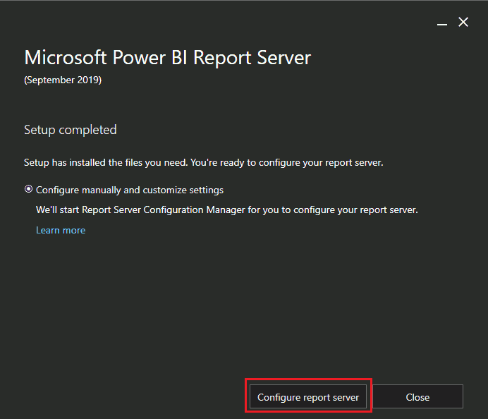 ConfigMgr Integrate Power BI Reporting Server with SCCM