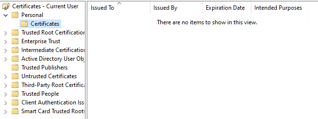 Windows Information Protection - No self-signed cert in User personal store is found for EFS purpose in a WIP enabled system where user has not manually encrypted a file with EFS.