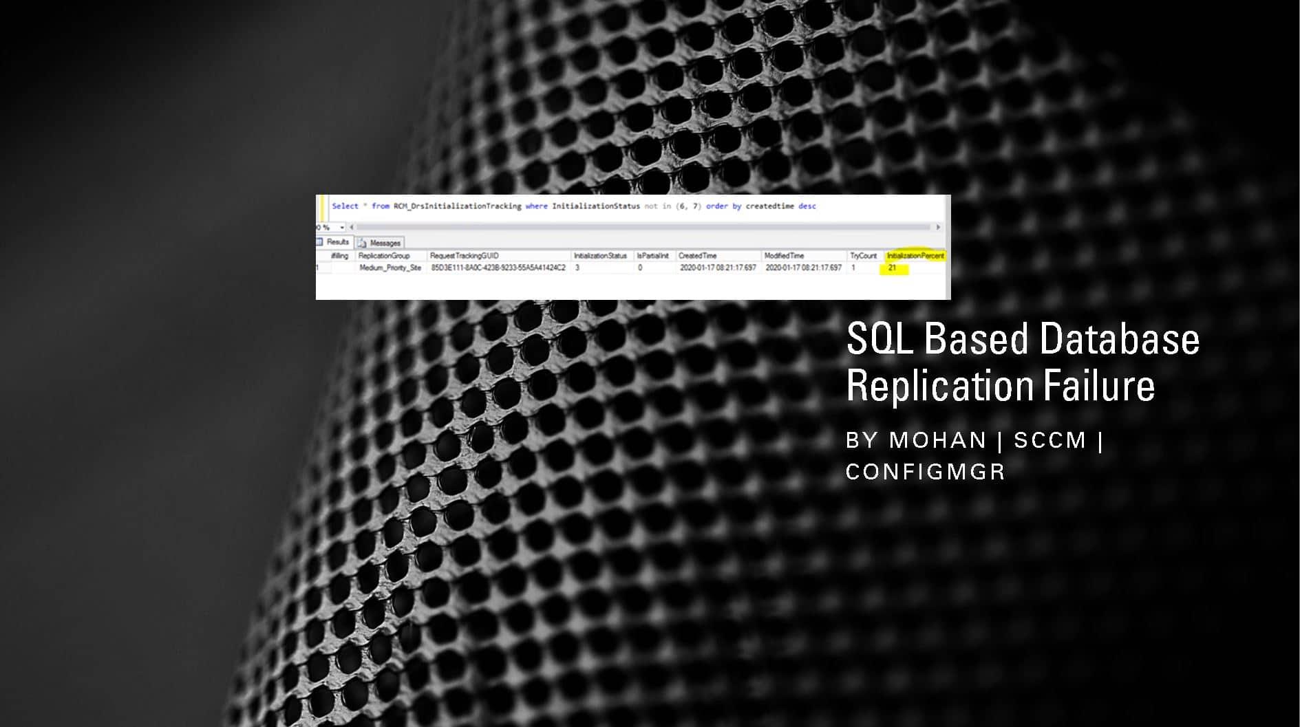FIX SCCM SQL Based Database Replication Failure