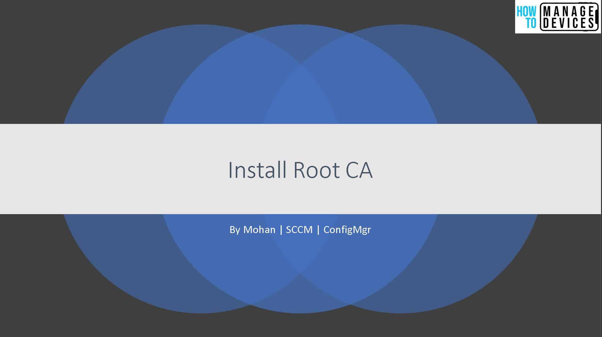 Install Root CA