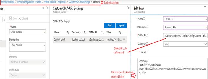 Manage Chrome using Intune via OMA-URIs - Use OMA-URIs to Manage Chrome Firefox