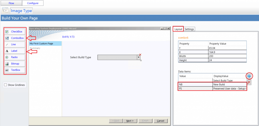 In Data Items - Add Value, Display Value for users - SCCM ConfigMgr Customizing UDI Wizard