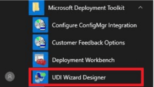 Launch UDI Wizard Designer - Customizing UDI Wizard