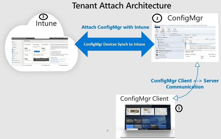 SCCM Tenant Attach Device Sync Architecture - Tenant Attach Guide for SCCM Logs Data Flow Troubleshooting Intune