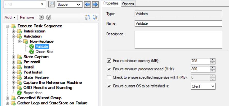 UDI Task Sequence - Validation Phase - SCCM ConfigMgr Customizing UDI Wizard
