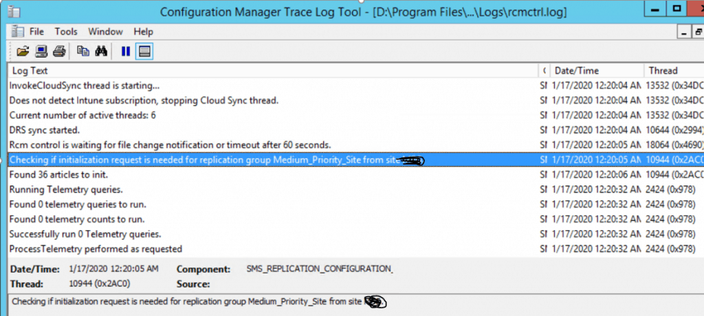 FIX SCCM SQL Based Database Replication