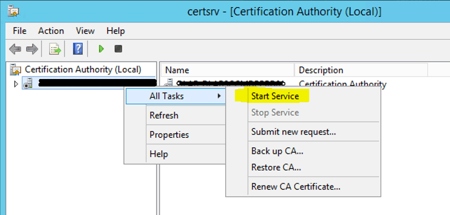 Install Root CA for SCCM ConfigMgr