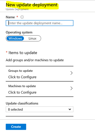 Server Patching with Azure Update Management for Azure Servers