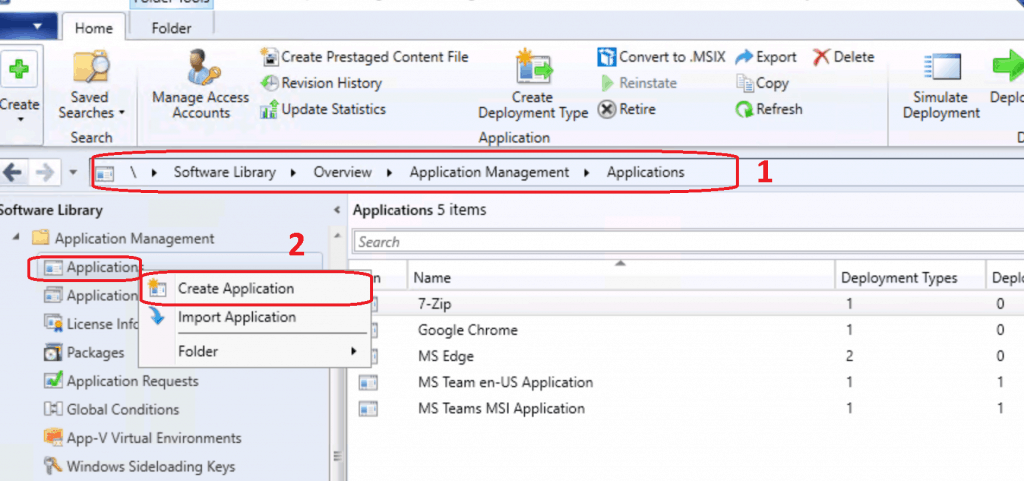 Create Application - Deploy Firefox Browser Using SCCM