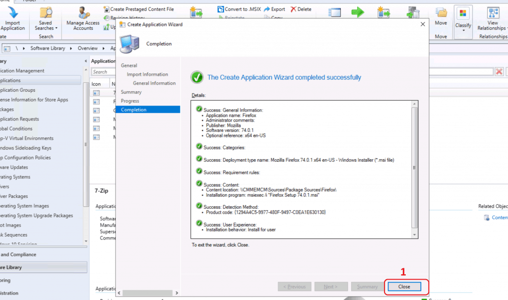 Create an SCCM application for Firefox Update - Deploy Firefox Browser Using SCCM