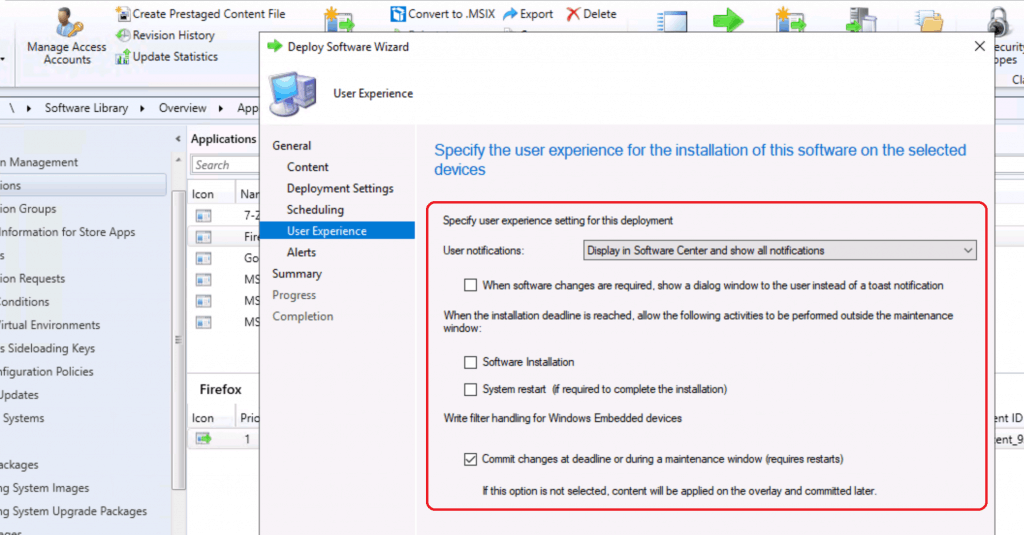 User experience for the installation - Deploy Firefox Browser Using SCCM