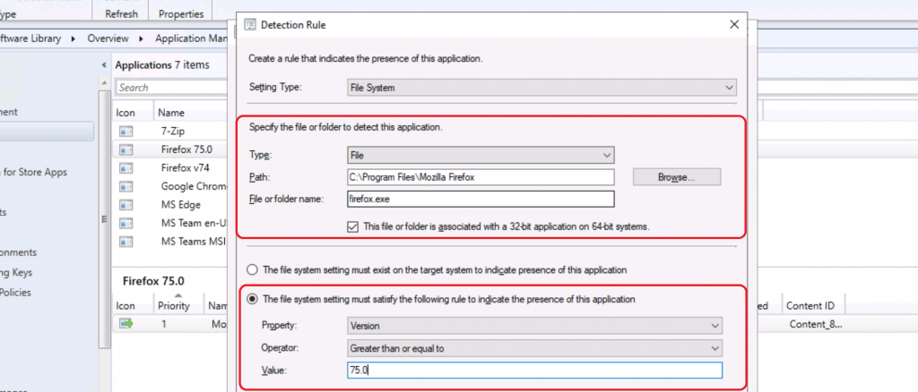 Detection Rule - Firefox Installation Failed SCCM Reporting Issue