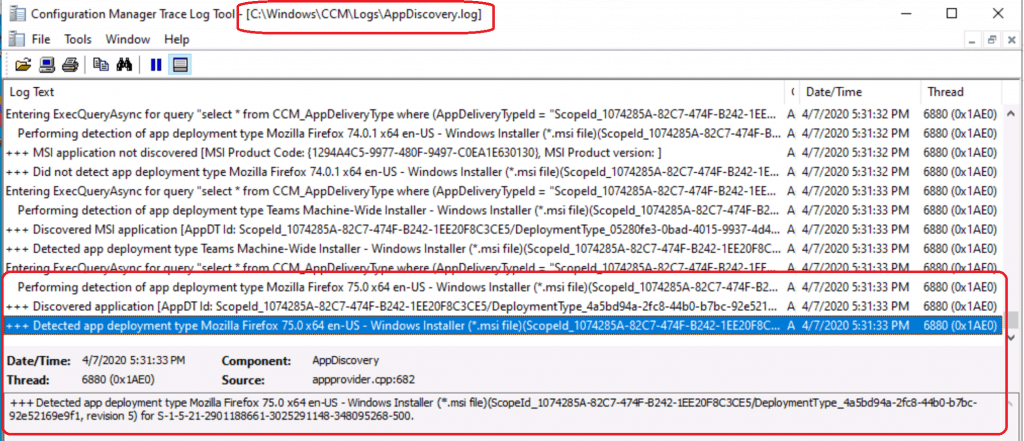 AppDiscovery.log - Firefox Installation Failed SCCM Reporting Issue