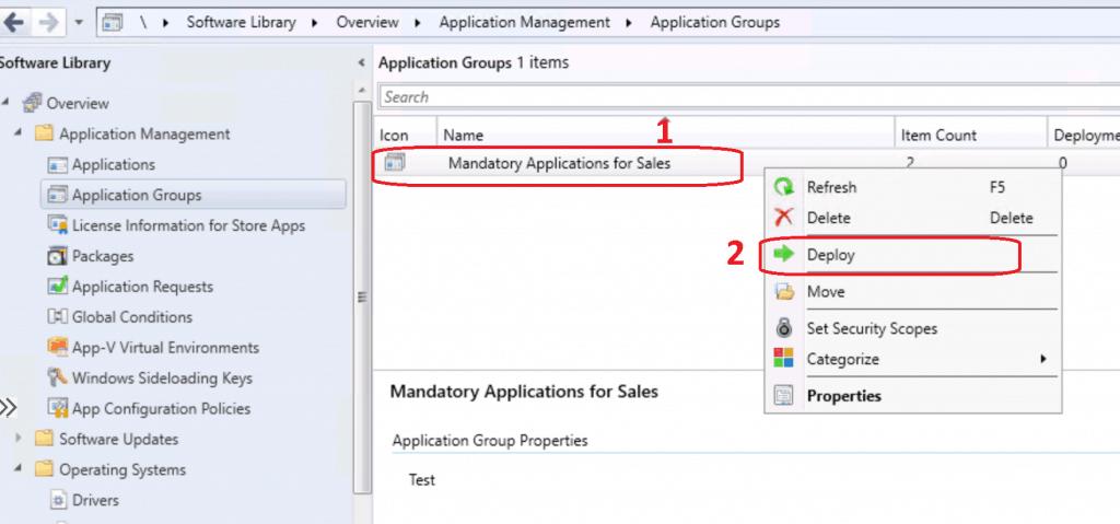 Deploy Application Group using SCCM - ConfigMgr