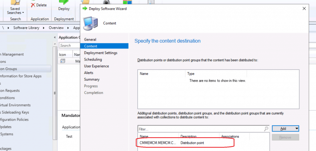 Create Application Group Using Configuration Manager