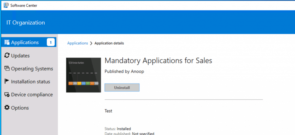 Windows 10 Software Center -  Application Groups Using SCCM - Configuration Manger
