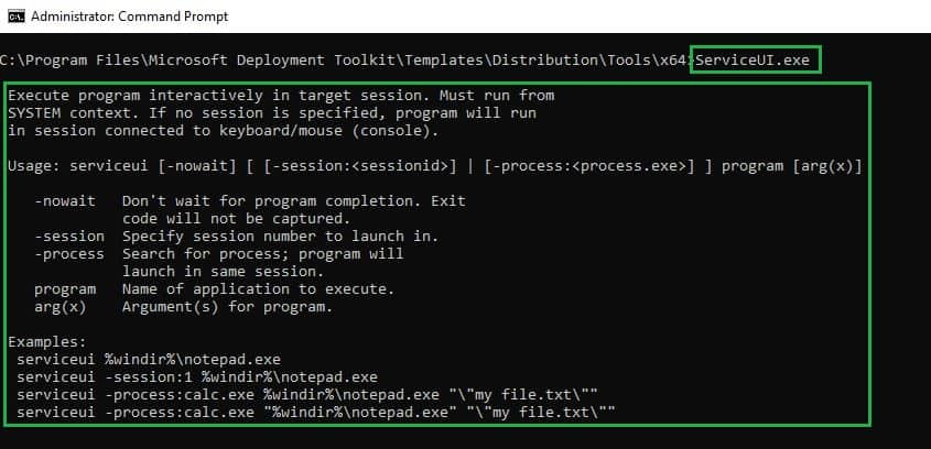 ServiceUI.exe -use ServiceUI with Intune - Bring SYSTEM Process to Interactive Mode